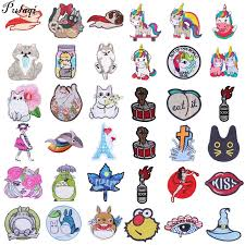 <b>Pulaqi Cartoon</b> Embroidery <b>Applique</b> Backpack Sew On Patches For ...