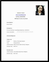 Gallery Of Resume High School Template