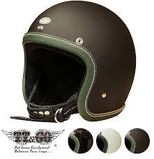 super magnum leather rim shot vintage green leather 3 4 open face motorcycle