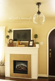 fire mantel decor stacy risenmay shelves put your treasures display electric insert edited pine wood mantels