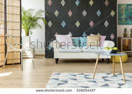 exotic living room furniture. Beautiful Exotic Living Room With Modern Furniture And Walls In Pastel Colours