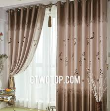 brown cute patterned casual blackout indian fabric curtains