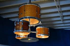 30 drum kit into chandelier