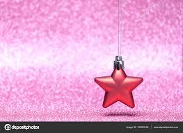 Kleine Rote Weihnachtsstern Auf Glitzer Hintergrund