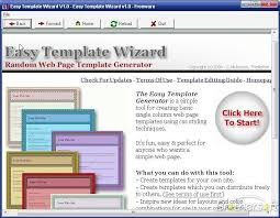 Microsoft Web Page Templates Download Free Easy Web Page Template Wizard Easy Web Page Template