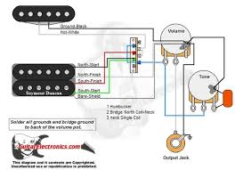 1 humbucker 1 single coil 3 way lever switch 1 volume 1 tone 02 one single coil pickup wiring diagram at 1 Humbucker 1 Volume 1 Tone Wiring Diagram