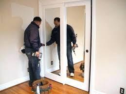 mirrored sliding closet doors for 96 inch