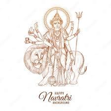 free vector beautiful happy navratri