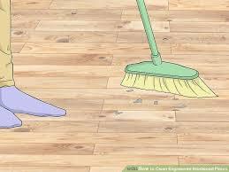 image titled clean engineered hardwood floors step 1