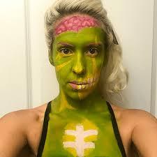 pop art zombie makeup using mehron