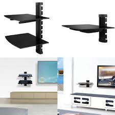 Floating Shelves For Tv Accessories 100100 Floating Shelves Large Wall Mount Tempered Glass TV 16