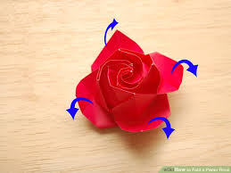 Paper Flower Origami How To Fold A Paper Rose With Pictures Wikihow