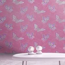 Lilac Bedroom Wallpaper Girls Chic Wallpaper Kids Bedroom Feature Wall Decor Various