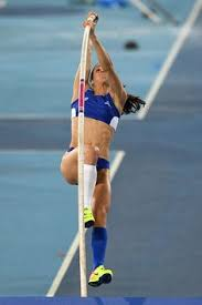 greece s ekaterini stefanidi petes in the women s pole vault final during the female sports