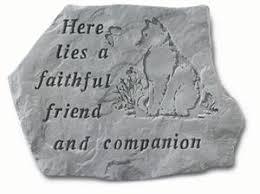 loss of a cat garden memorial stone