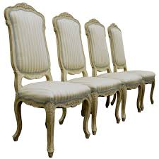 french style dining chairs for sale. 4 carved swedish rococo or french louis xv style painted dining chairs 1 for sale ,