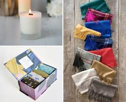 hygge gifts soy candle sock pack alpaca scarves