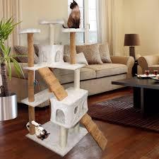 premium cat tree tower condo scratch furniture 72 tan and white com