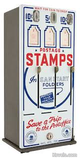 Vintage Stamp Vending Machine New Antique CoinOperated Machines Technology Price Guide Antiques