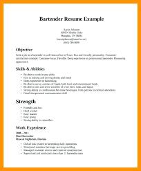 Resume Bartender Server Example Resume For Sample Bartender Resume