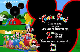15 Mickey Mouse Thank You Cards Psd Eps Free Premium