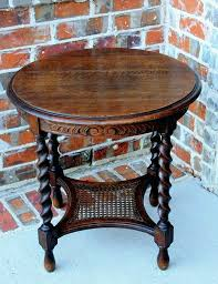 lamp tables living room furniture living room tables a antique oak round barley twist caned 2 tier lamp end table nightstand barleytwist living room theater