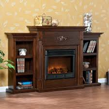 southern enterprises tennyson espresso electric fireplace with bookcases com
