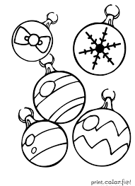 Small Picture Coloring Pages Christmas Ornaments Coloring Page Print Color Fun