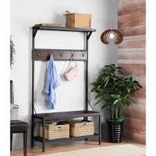 Built In Coat Rack Inspiration Shop Homestar Wide Hall Tree Coat Rack With Built In Bench Free