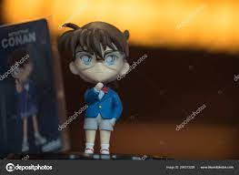 Bangkok, Thailand - August 10, 2019: Cute souvenir figure of Detective Conan  the movie 23, promotions from SF Cinema at Thailand – Stock Editorial Photo  © dontree #294373226
