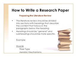 apa research paper literature review format SlideShare