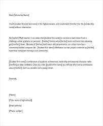 Student Character Reference Letter Character Letter Templates 7 Free Sample Example Format