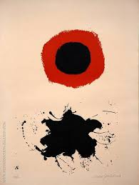 red halo white ground l by adolph gottlieb oil paintings art reions reion gallery