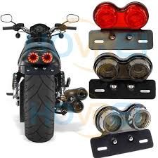 2018 12v vine cafe racer flashers universal motorcycle led brake light with license plate frame tail light for harley yamaha from seasonyi1