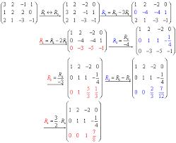 row reduction method free math help