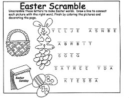 Small Picture Can you unscramble the letters to make Easter words When your