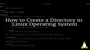 Create A Directory How To Create A Directory In Linux Operating System