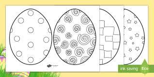 Aus Ks1 Easter Egg Colouring Sheets