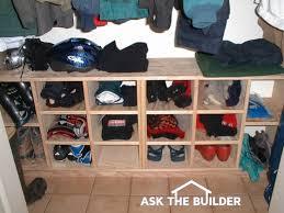 shoe storage closet cubby