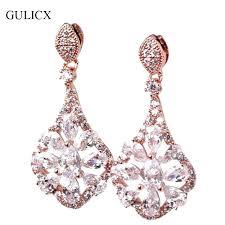 big gold chandelier earrings plus big gold chandelier earrings women punk large long rose gold color