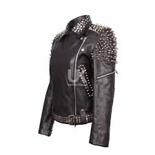 britney spears studded leather jacket