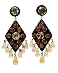 ashley pittman ibada dark horn earrings