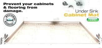 under sink kitchen cabinet mat under sink drip tray home depot under sink cabinet protector home