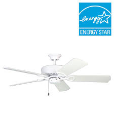 designers choice collection excellence 52 in white ceiling fan ac16652 wh the home depot