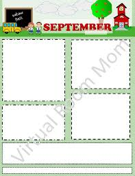 September Newsletters Monthly Or Weekly Newsletter Templates Digital Download 8 5 X 11 3 Different Looks Included