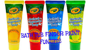 bathtub finger paint soap funtime