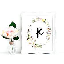 boho wall art wall decor letter k wall decor impressive printable monogram letter k wall art