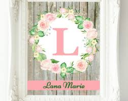 personalized baby girl wall art