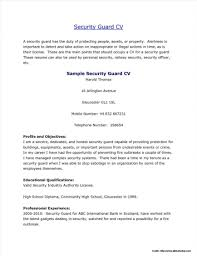 Security Guard Resume Template For Free Examples Unique Templates
