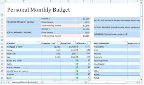 Personal Budget Excel Template Mac Spreadsheets Medium For